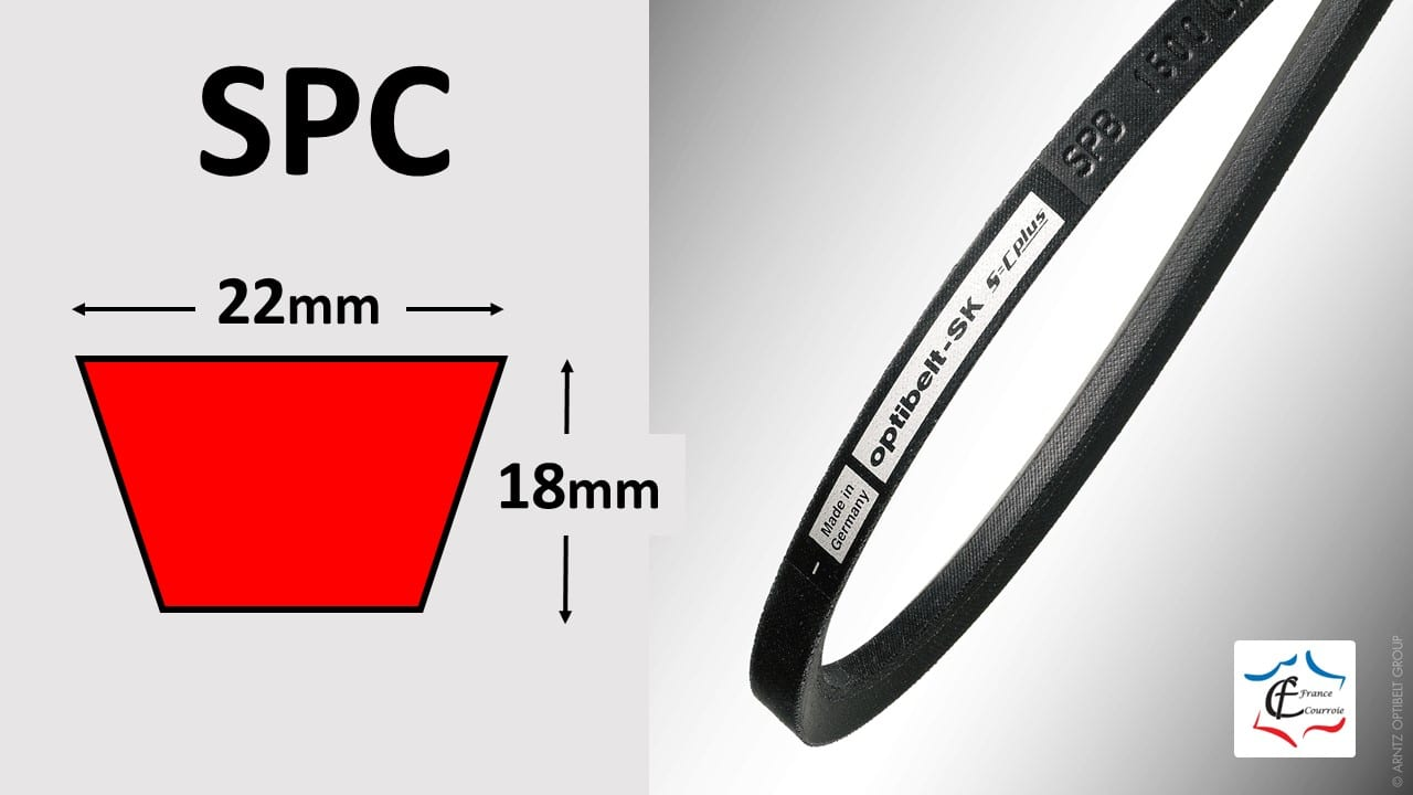 Profil SPC courroies trapézoïdales de qualité | FRANCE COURROIE