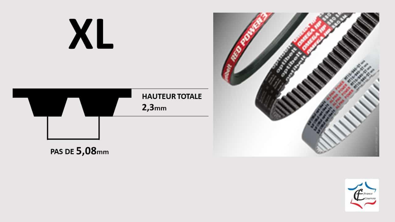 Profil XL courroies trapézoïdales de qualité | FRANCE COURROIE