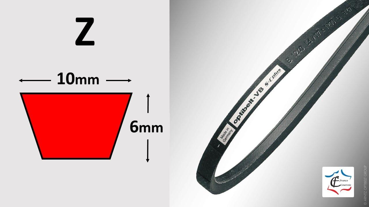 Profil Z courroies trapézoïdales | FRANCE COURROIE